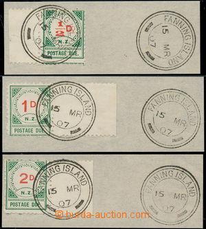 176252 - 1899 SG.D9,10,15, krajové doplatní 1/2P, 1P, 2P na výstř