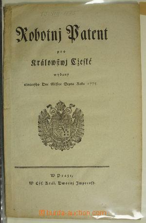 176317 - 1775-1820 [SBÍRKY]  PATENTY, CIRKULÁŘE  zajímavá sbírk