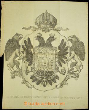 176327 - 1836 RAKOUSKÉ CÍSAŘSTVÍ  nádherná rytina velkého státního zn