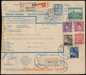 176485 - 1939 větší díl předběžné mezinárodní poštovní průvodky s při