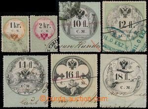 176500 - 1854-66 [SBÍRKY]  HABSBURSKÁ MONARCHIE / LISTINNÉ KOLKY EMIS