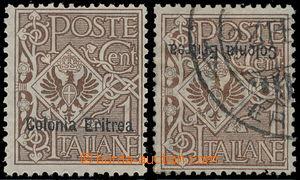 176554 - 1903 Italská kolonie Sass.19, 19c, Znak 1C hnědá s přetiskem