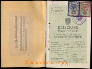 178492 - 1923 RAKOUSKO  cestovní pas vydaný ve Vídni v roce 1923, vyl