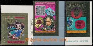 179845 - 1978-79 sestava 3ks známek vydaných na zlaté folii (!), každ