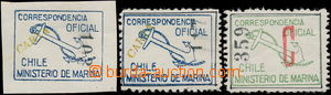 180482 - 1907 OFFICIAL Marineministeriums, imperforate blue with addi