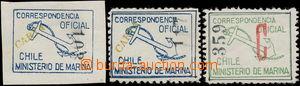 180482 - 1907 SLUŽEBNÍ  Marineministeriums nezoubkovaná modrá s p