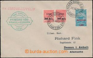 180689 - 1931 ZEPPELIN / 3. SÜDAMERIKAFAHRT 1931, 1. let Brazílie - E