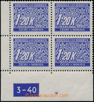 181581 / 2593 - Filatelie / Protektorát ČaM / Doplatní
