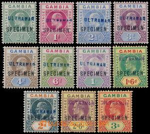182331 - 1902-05 SG.46-55, Edvard VII. 1/2P - 3Sh, komplet bez 2P, vš