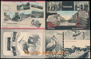 182715 - 1908-30 FRANTIŠKOVY LÁZNĚ (Franzensbad) - comp. 4 pcs of col