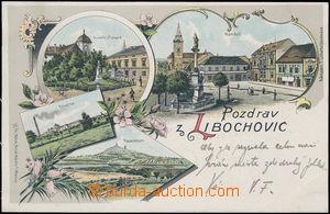 182719 - 1901 LIBOCHOVICE - vícezáběrová lito, DA, vydal Böhm; prošlé