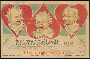 182737 - 1900 Josef Šváb č. 513, Že na holky míváš vztek....; prošlá,