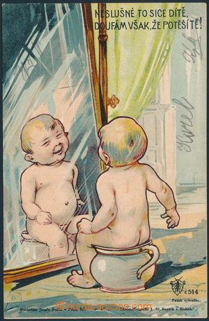 182738 - 1900 Josef Šváb č. 514, Neslušné to sice dítě....; prošlá, p