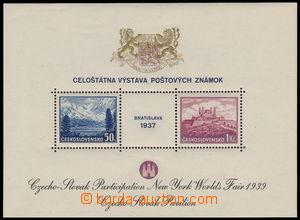 182771 - 1939 AS3e, aršík Bratislava 1937, výstava NY 1939, černý tex
