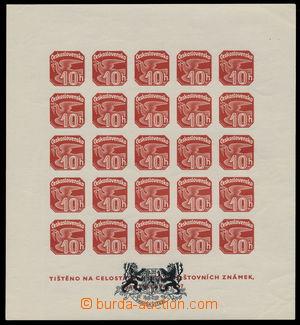182791 - 1939 ZT  AS2, zkusmý tisk, novinový aršík NV18 s černým znak
