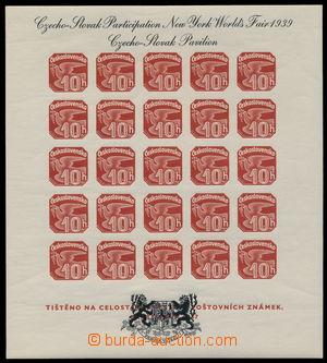 182941 - 1939 AS2a, Novinový aršík 1937, výstava NY 1939, černý text