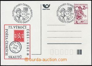 183217 - 1993 CDV2, s přítiskem POŠTA ČESKÝCH SKAUTŮ 1918-1993,