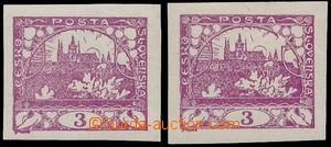 183423 -  Pof.2 R1 DV, 3h fialová 2ks, 1x s retuší větve, ZP 90/2, pě