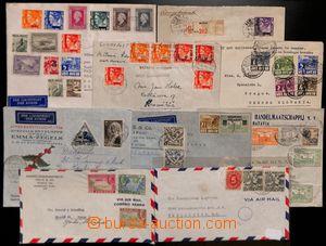 183535 - 1932-1947 7 firemních dopisů, pestré frankatury leteckých a