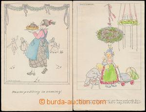 183616 - 1910 MELA KOEHLER - sestava 2ks dětské motivy, anglické vydá
