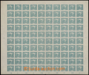 183761 -  Pof.4, 5h modrozelená, kompletní 100ks arch, TD 1, STp ZP 3