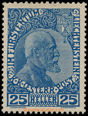 183781 - 1912 Mi.3ya, Johann II. 25H dunkelkobalt; lehká stopa, majet