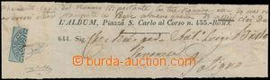 184001 - 1852 novinová páska s půlenou(!) Sass.1A BAJ MEZZO (1/2B), r