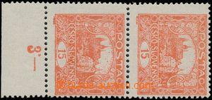 184063 -  Pof.7B STs, 15h cihlově červená, svislá 2-páska s dolním ok
