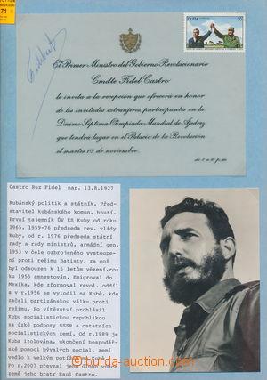 184171 - 1966 CASTRO Fidel (*1926), former kubánský president and pri