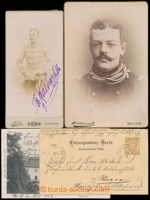 184176 - 1890-1905 VAN BOOS-WALDECK interesting collection of documen