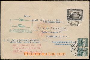 184178 - 1931 ZEPPELIN / 1. SÜDAMERIKAFAHRT 1933, Let-dopis do Brazíl