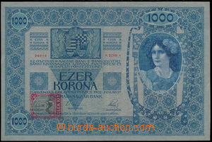 184458 - 1919 Ba.6, 1000 Koruna, issue 1902 with additionally printed