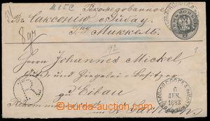 184538 - 1883 Mi.U30C, celinová obálka 7k odeslaná jako R- do Eibau (