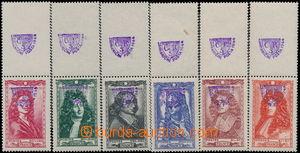 184604 - 1944 FRANCIE  Mi.624-629, Osobnosti XVII. století, kompletní