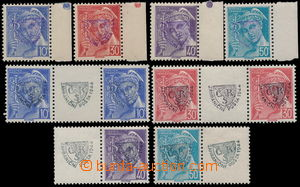184606 - 1944 FRANCE  Mi.557-560, Mercure 10c - 50c, complete set wit