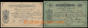 184615 - 1889-92 RAKOUSKO - UHERSKO / LOVECKÝ LÍSTEK  sestava 2ks uhe