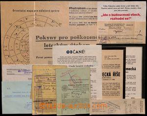 184714 - 1943-45 BOHEMIA-MORAVIA  comp. 13 pcs of various Bohemian an