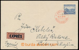184759 - 1939 KHUST  Express letter addressed to to Prague, with Pof.