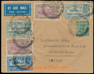 184894 - 1934 airmail letter to Prague franked with Indian forerunner