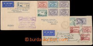 184903 - 1931 2 dopisy přepravené 1. a 2. Experimentálním letem Melbo