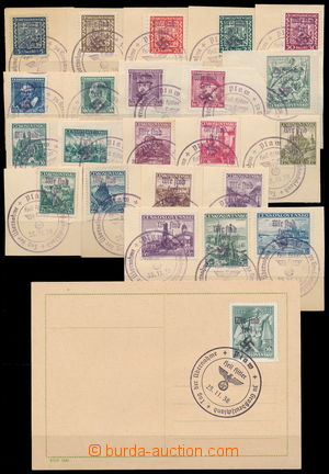 184929 - 1938 PLAVY  violet private overprint Wir sind frei! on/for 3