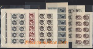 184981 - 1951-57 comp. 9 pcs of sought unused 10-bloků: Pof.PL574!, 5