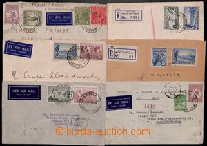 185041 - 1934-1939 6 Reg or airmail letters, all to Czechoslovakia an