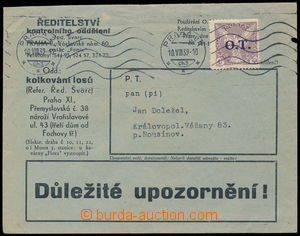 185057 - 1939 commercial commercial printed matter franked with. fore