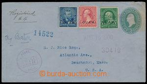 185128 - 1900 R- celinová obálka 2C zaslaná do USA, dofr. zn. 5C, 2C