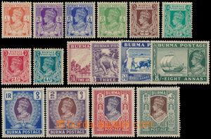 185193 - 1938 SG.18-33, George VI. 1P-10Rp; very nice quality, cat. &