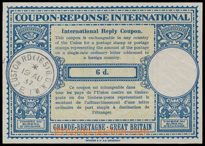 185365 - 1937 international reply coupon CMO4 values 6d, CDS EUSTON R