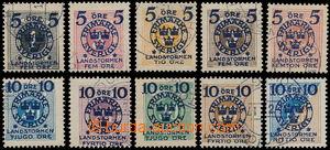 185384 - 1916 Mi.97-106, Landstormen II 5Ö+5Ö - 10Ö+90Ö; kompletní sé