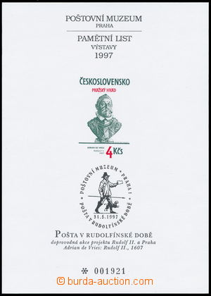 185453 - 1997 PTM9, Post in/at Rudolf II - period; c.v.. 900CZK