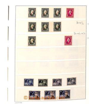 185516 - 1939-44 [SBÍRKY]  kompletní generální sbírka na listech Leuc